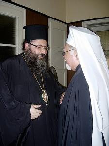 Mgr Stephanos et Mgr Ioan, auxiliaire du Patriarche de Bulgarie